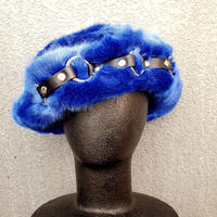 【ARTRICK×ニュリカデリック】Fur Harness Hat (blue)