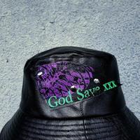 Leather Bucket hat(purple)