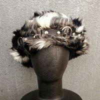 【ARTRICK×ニュリカデリック】Fur Harness Hat (blk/wht)