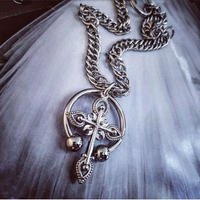 Cross × Circular Necklace