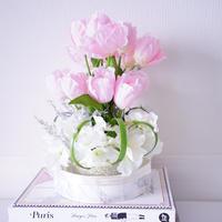 tulips artificial flower arrangement