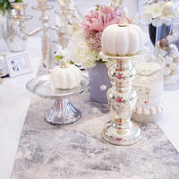 pink silver table runner