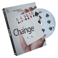 チェンジ<ビジュアルなカードチェンジ>【F0044】Change (DVD and Gimmick) by SansMinds