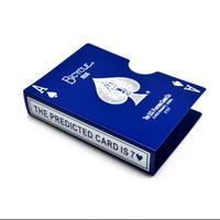バイスクル・カード・プロテクター(ブルー)【G0378】Bicycle Card Protector Aluminum - Prediction (Blue)