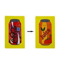 コーラ&オレンジジュース<ジュースの絵が一瞬で変化>【Y0051】