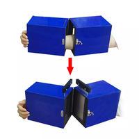 腕を真っ二つに切断するイリュージョン「ギロチンボックス」