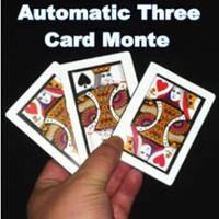 オートマティック・スリーカードモンテ(ポーカーサイズ)【M0848】Automatic Three Card Monte (Poker Size,8.8x6.4cm)