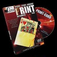 プリント・カード<ビジュアルに変わるカード>【F0058】PRINT-CARD by Mickael Chatelain