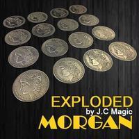 驚異の16分裂「エクスプローテッド・モルガン」【Z0001】Exploded Morgan Magic Tricks 1 Morgan Coin to 4 to 16