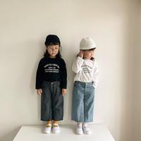 【ご予約】kids:親子ロンティー(モノトーン)