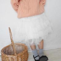 【即納】2ラインチュールスカート