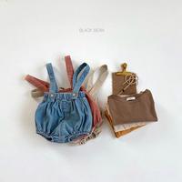 【ご予約】ベビーサロペット・カットソーセット