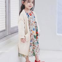 【即納】レトロ 花柄 フレアワンピース