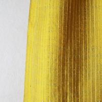 結城紬のショール  育てる 色無地 稲金色-いねこんじき- 55607-4PLYEW 絹100%  日本製