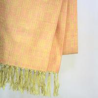 結城紬のショール  育てる 網代 蒲公英-たんぽぽ- 55589-4WCYLW 絹100%  日本製