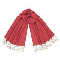 結城紬のショール  育てる 色無地 レッド 55575-4PLRED 絹100%  日本製
