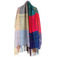 結城紬のショール 真綿まとう 多色 色音律 52584-6CHCOR 絹100%  日本製