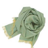 結城紬のショール 風まとう 翡翠-ひすい- 53206-4STMINT 絹100%  日本製