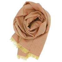 結城紬のショール 風まとう 珊瑚-さんご- 53205-4STFLW 絹100%  日本製
