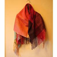 結城紬のショール 真綿まとう 多色 豊潤 52433-6CHORN 絹100%  日本製