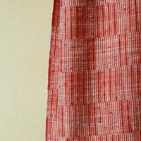 結城紬のショール  育てる 網代 果実-かじつ- 55611-4WCPNK 絹100%  日本製