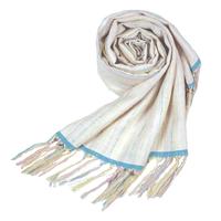 結城紬のショール  育てる  色無地  春の山 55591-4PLWHT 絹100%  日本製