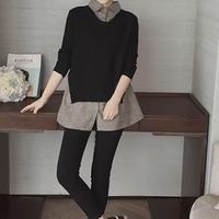 ロング丈セーターシャツ(2色)