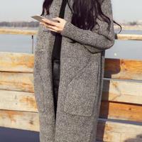 厚手ロングニットコート(2色)
