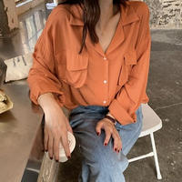 開襟オーバーシャツ(3色)