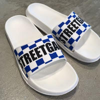 STREETGAME Slipper / CHECKER (White / Blue)