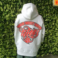 WILDWESTDAYS  zip hood / WWD LA BACKPRINT (Color: White / Red)