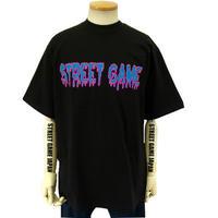 STREET GAME T-Shirts / ICE (Heavy Weight) (black / purple)