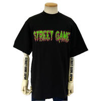 STREET GAME T-Shirts / ICE (Heavy Weight) (Black / Green)