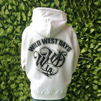WILDWESTDAYS  zip hood / WWD LA BACKPRINT (Color: White / Black