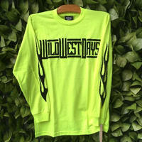 WILDWESTDAYS  Long Sleeve Tee / Fire (Color: neon yellow)