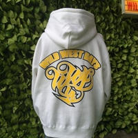 WILDWESTDAYS  zip hood / WWD LA BACKPRINT (Color: white / yellow)