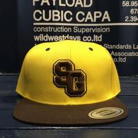 "STREET GAME CAP  ""SG"" (yellow/Brown)"