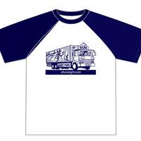 【Tシャツ】サウナ夢街道ラグラン(ネイビー)