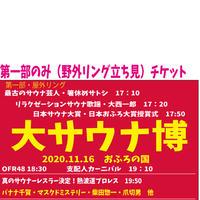 大サウナ博2020.11.16 第一部のみ【第1部野外リング立見】※チケットの発券送付はありません。お名前で確認