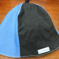【洗えるサウナハット丈夫な帆布】おふろの国タグ(水色と紺