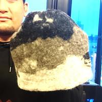 【オルカ宇藤ブランド】サウナハットブラックグレー(羊毛100%)
