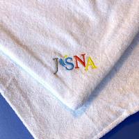 お試し価格・実践用【風をおこす。舞う。JSNA認定アウフグースバスタオル】JSNA刺繍入り・カラーホワイトのみ