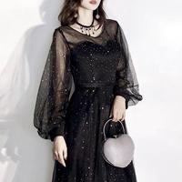 [ New ]long black sexy party-dress ボリューム