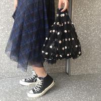 花柄刺繍シースルーミニフラワーハンドバッグ