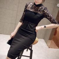 dress [new ]パーティーワンピース タイト 刺繍 ドレス