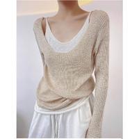 ざっくり薄手knit