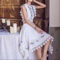 ボヘミアン風 セットアップ 2点セット 刺繍 花柄 ビーチリゾート
