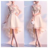 刺繍 チャイナドレス風 華やか フィッシュテール 結婚式 大きいサイズ
