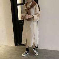 ロングシャツ+ショール お得な2点セット 秋ファッション 全3色