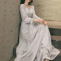 キラキラビジューロングドレス